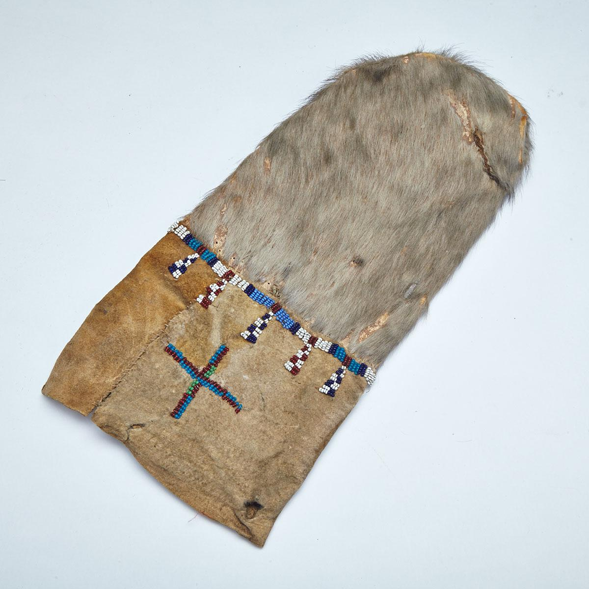 Inuit Beaded Sealskin Pouch, 19th century