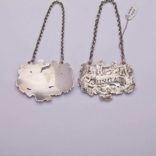 Two Georgian Silver Wine Labels, one John Reily, London, 1814, the other unmarked, c.1820