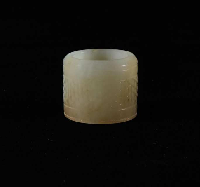Pale Celadon Jade Archer's Ring, 19th Century