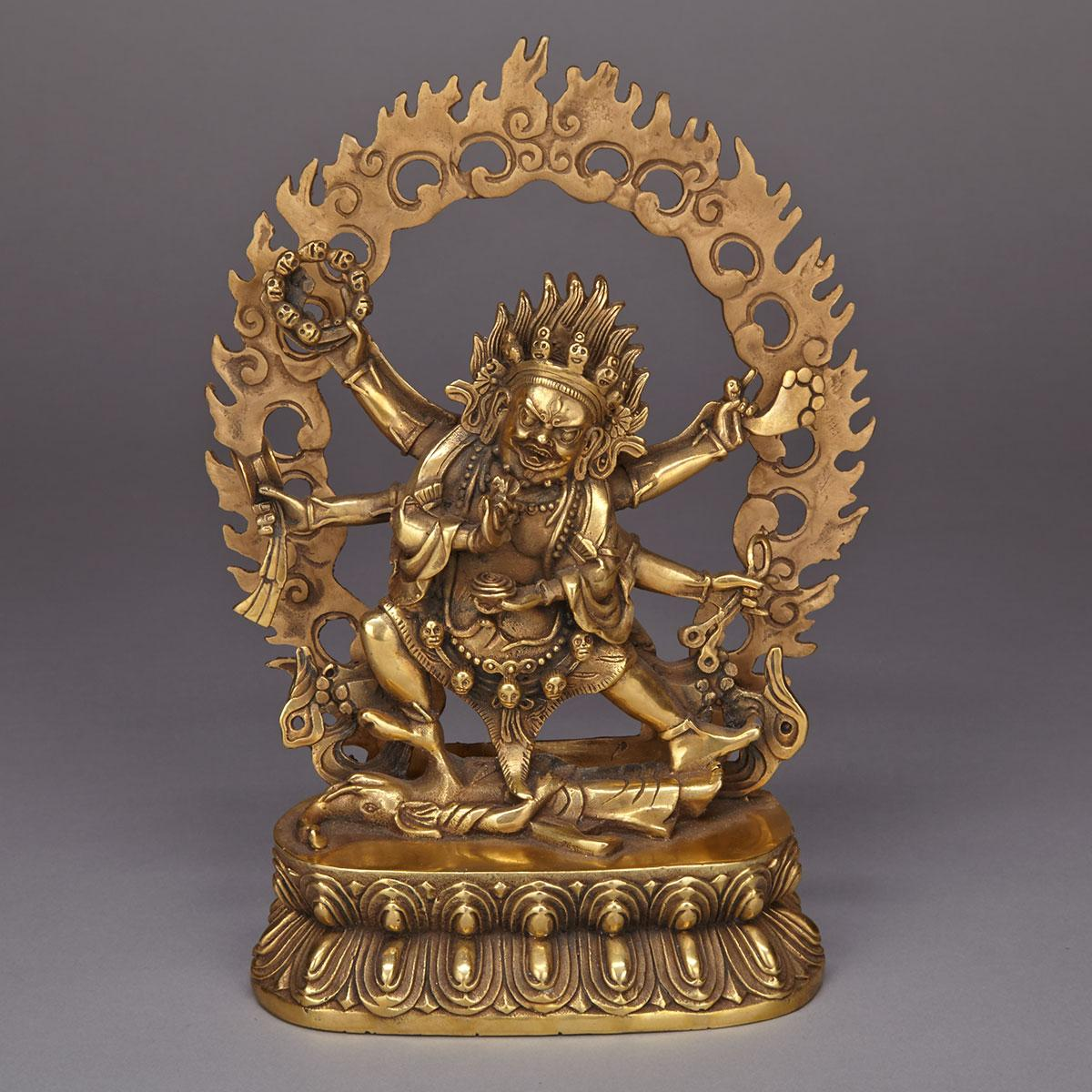 Bronze Figure of Mahakala, Tibet