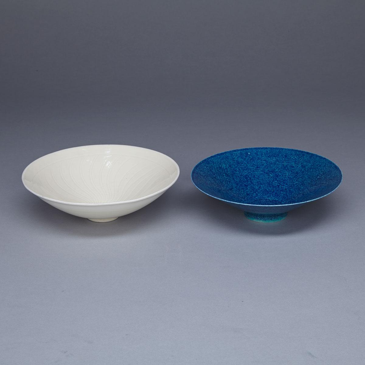Two Monochrome Teabowls, Early 20th Century