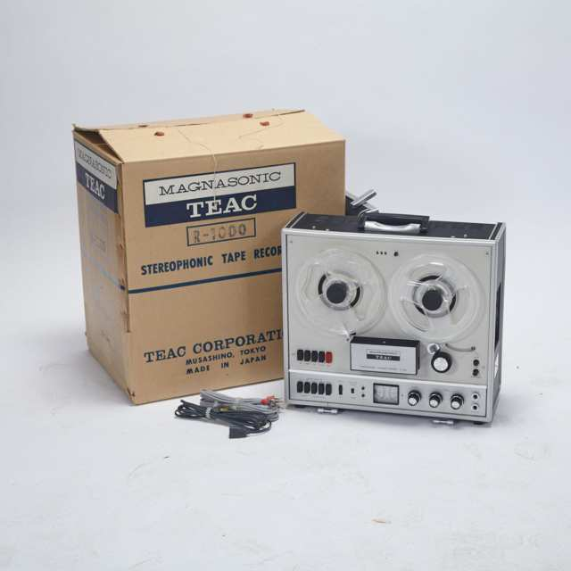 [New Old Stock] Magnasonic TEAC Model R-1000 Reel-to-Reel Tape Recorder, c.1970