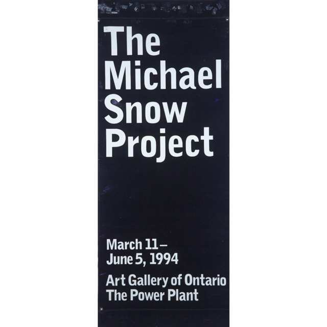 MICHAEL SNOW PROMOTIONAL BANNER