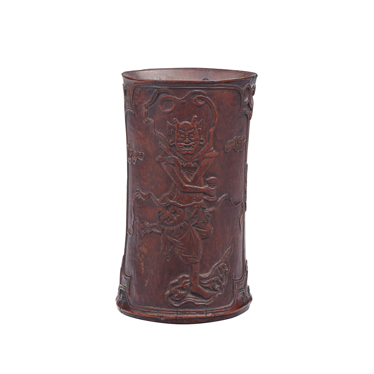Lacquered Bamboo Brushpot, Early 20th Century