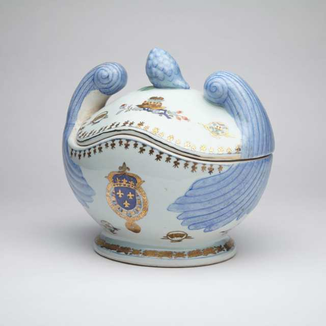Export Armorial Soup Tureen and Cover
