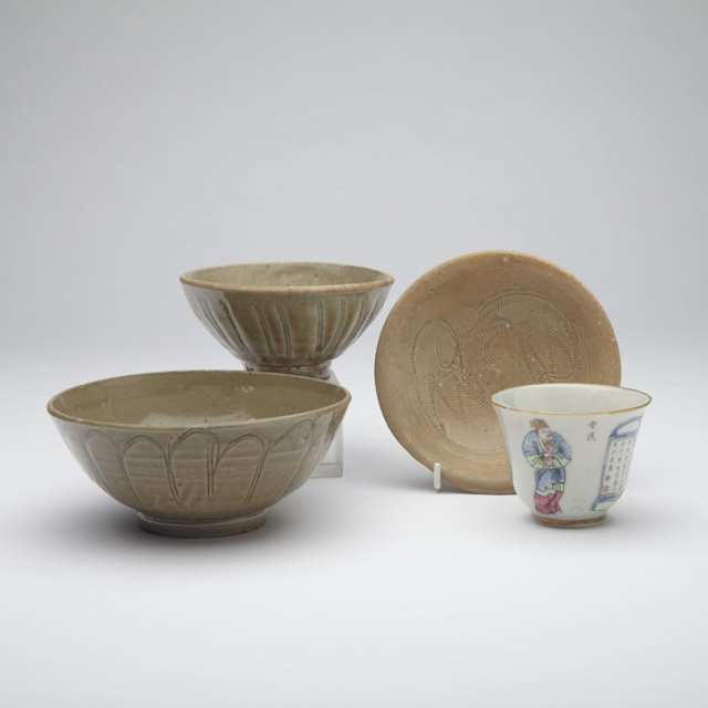 Three Celadon Glazed Wares, South East Asia, 16th/17th Century