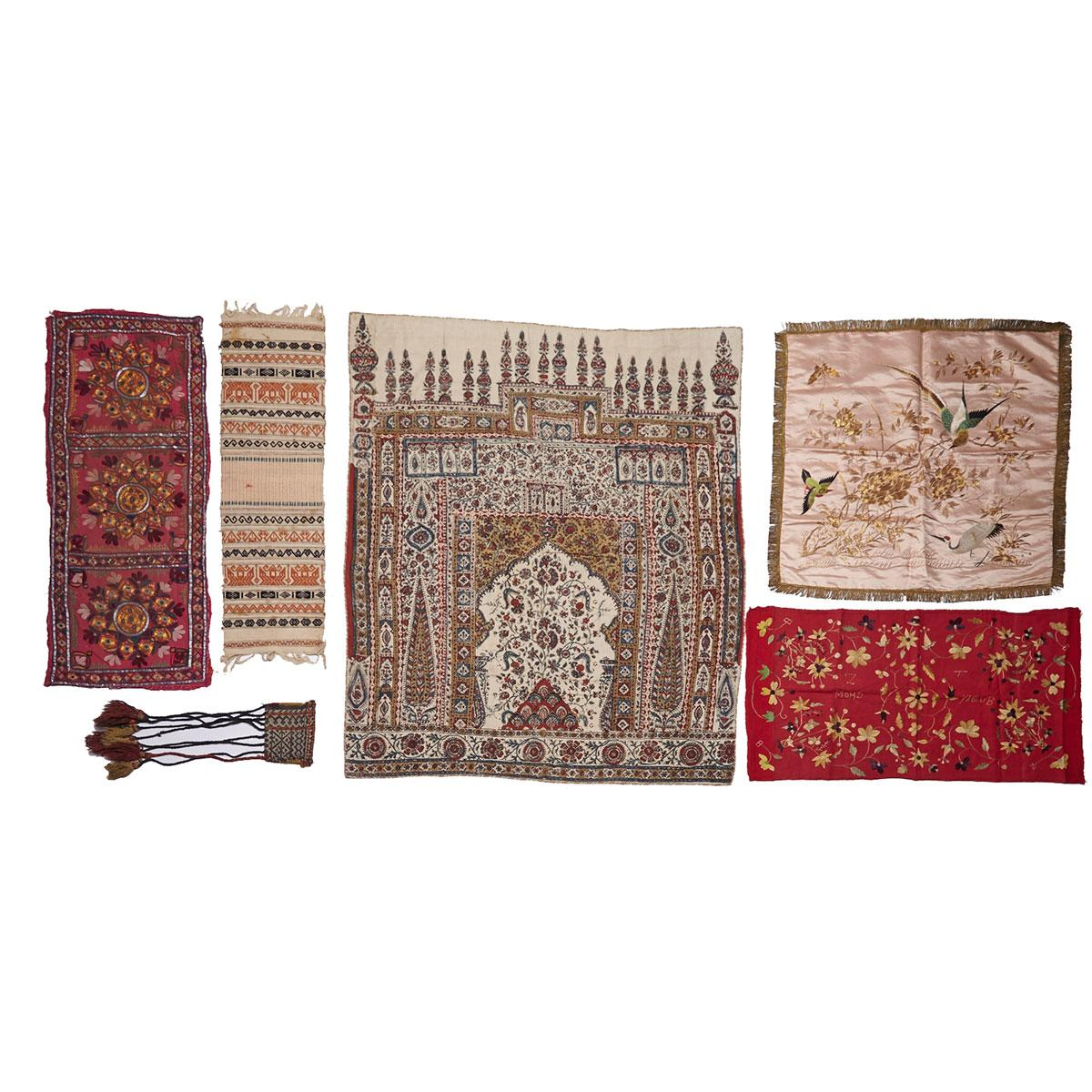 Nine Assorted Textiles, China, India and the Middle East