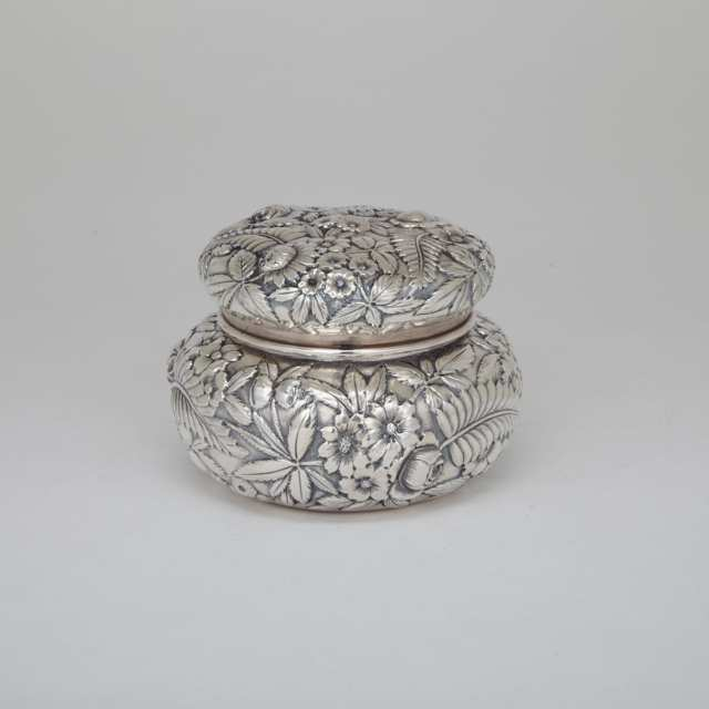American Silver Covered Jar, S. Kirk & Son Co., Baltimore, Md., c.1900