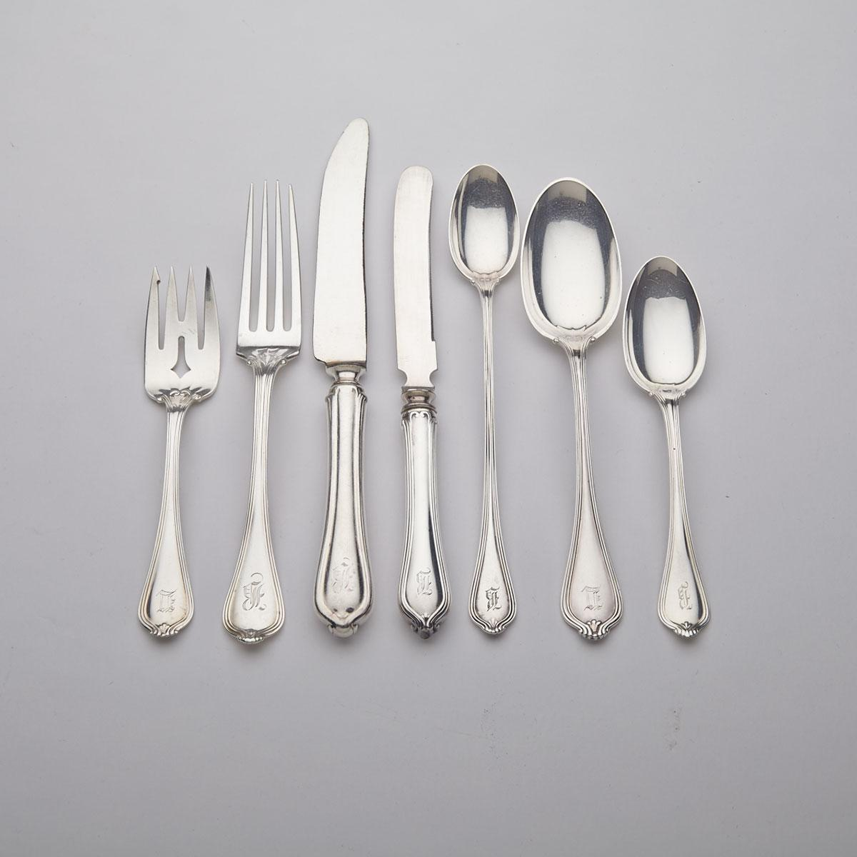 American Silver 'Paul Revere' Pattern Flatware Service, Towle Silversmiths, Newburyport, Mass., early 20th century
