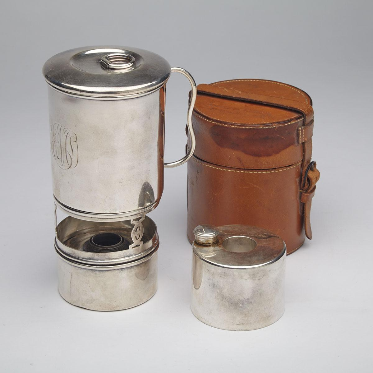 Tiffany & Co. Silver Plated Travel mug set, early 20th century