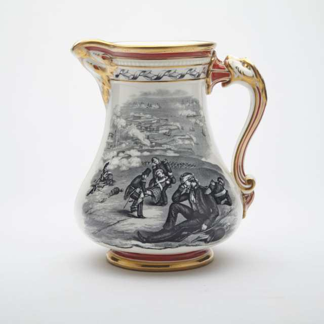Stoneware 'Royal Patriotic Jug', Samuel Alcock & Co. Hill Pottery, Burslem, c.1855