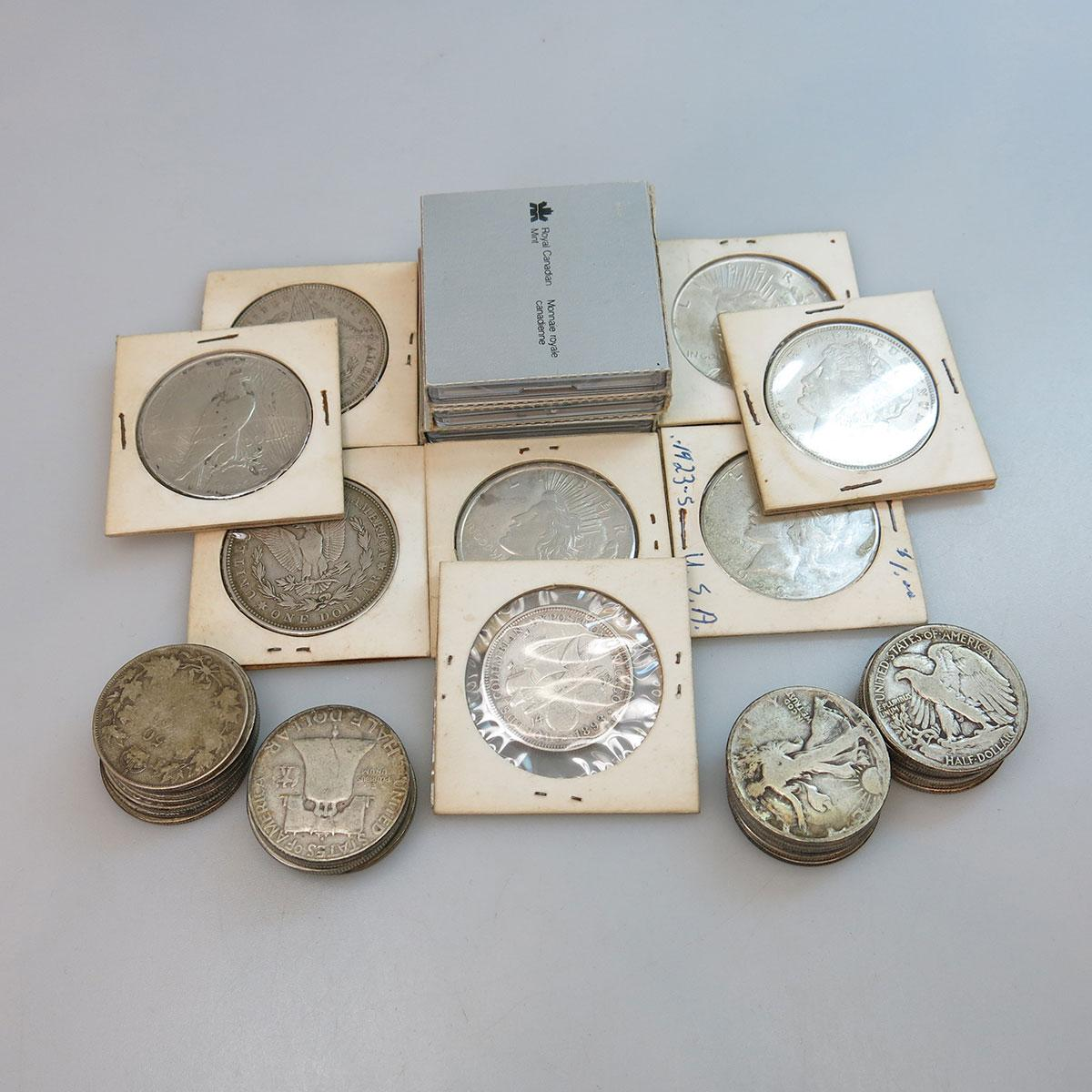 Quantity Of Canadian And American Silver Coins