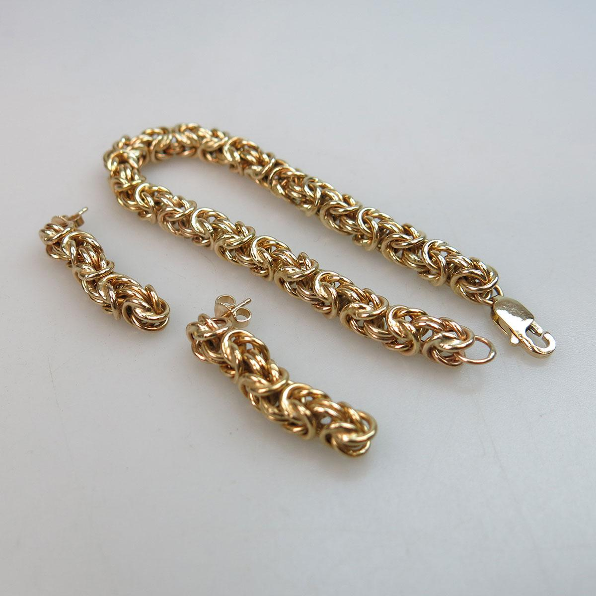 14k Yellow Gold King's Link Bracelet