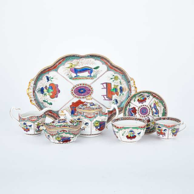 Flight Worcester 'Kylin' Pattern Dejeuner Set, c.1783-92