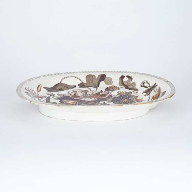 Wedgwood 'Water Lily' Pattern Oval Platter, c.1808-11
