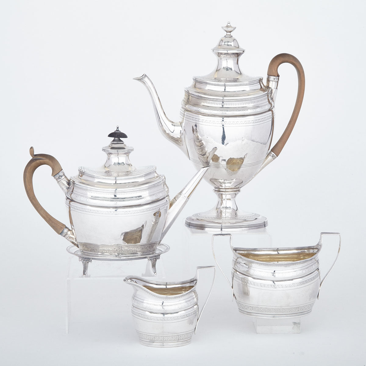 George III Silver Tea and Coffee Service, Robert & David Hennell, London, 1798