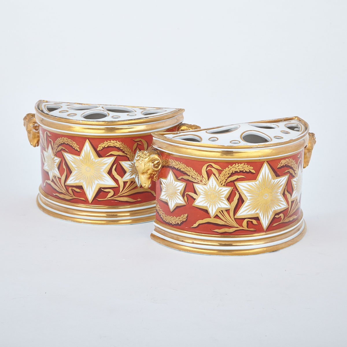 Pair of Derby Bough Pots, c.1800-10
