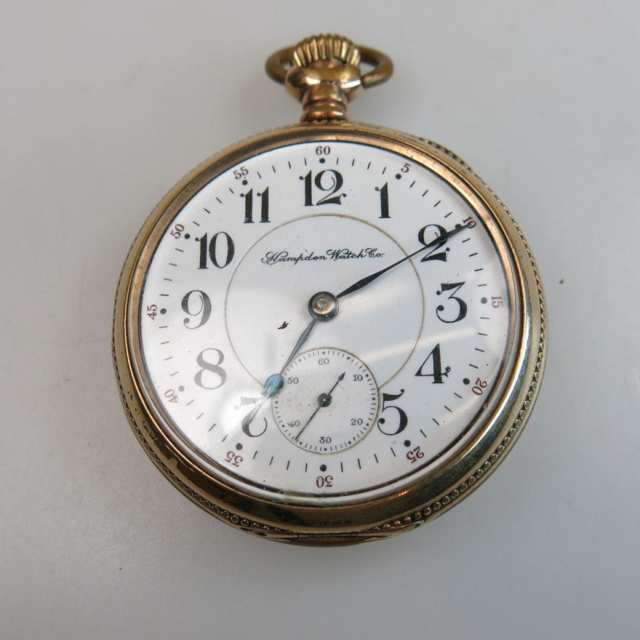 Hampden Watch Co. Openface Pocket Watch