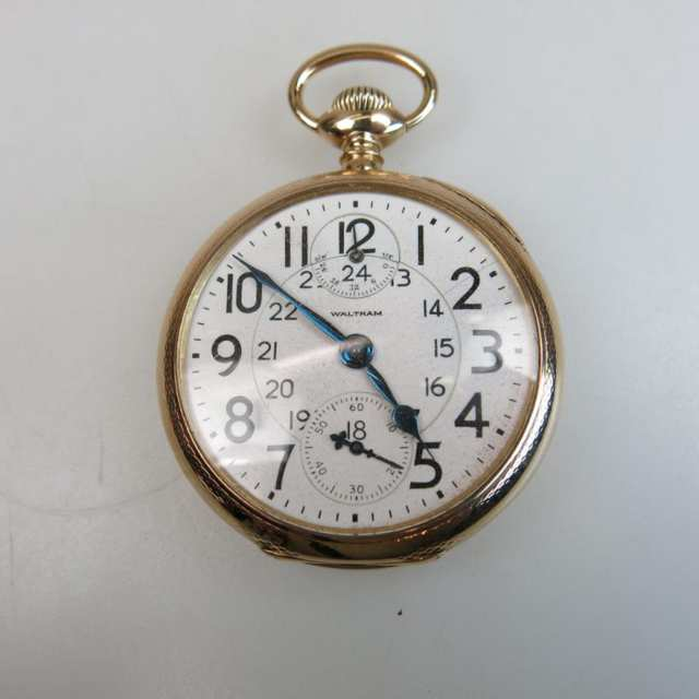 Waltham Vanguard Pocket Watch With Wind Indicator