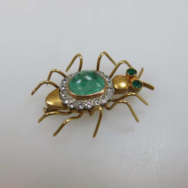 14k Yellow Gold Insect Pin