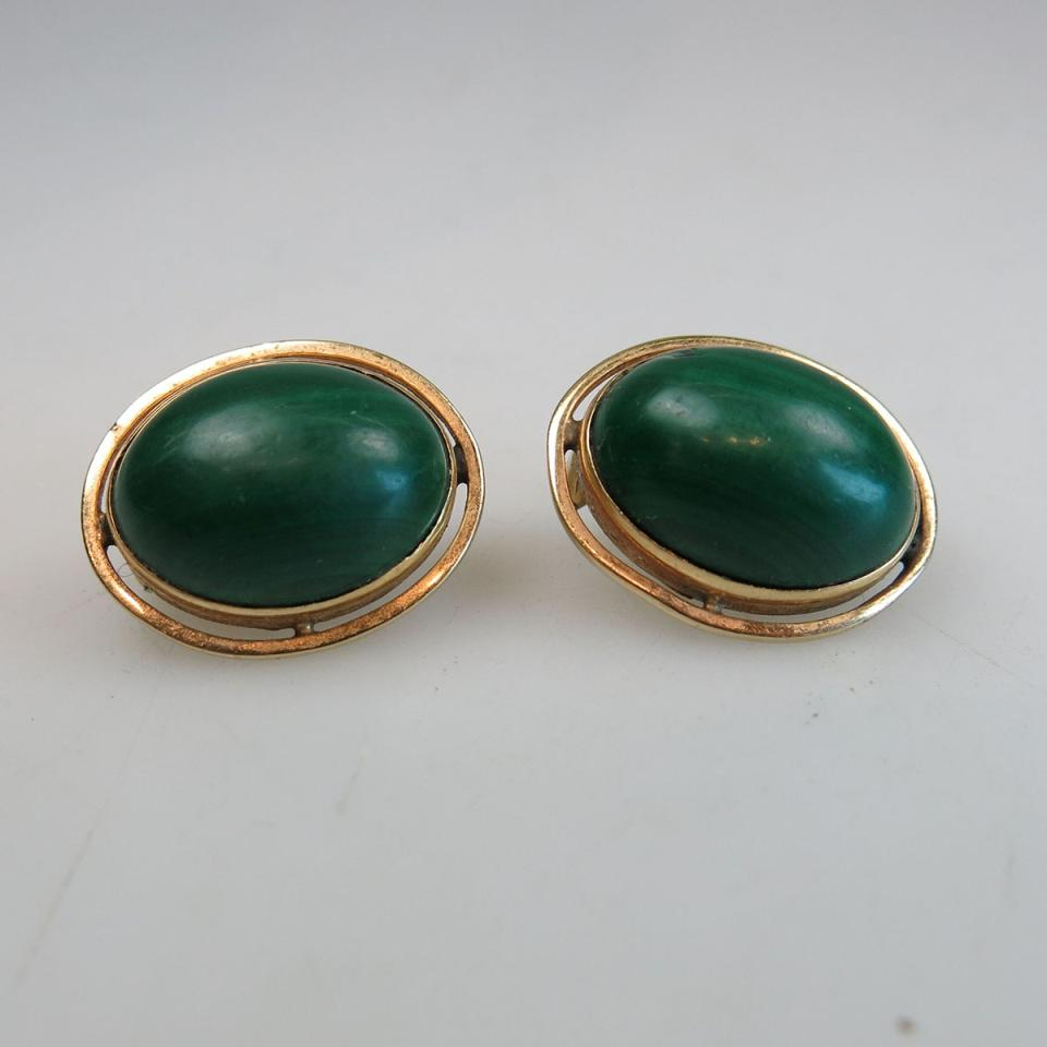 Pair Of 10k Yellow Gold Earrings
