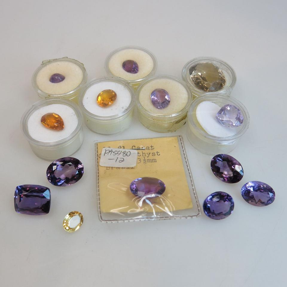 Quantity Of Unmounted Amethyst And Citrine