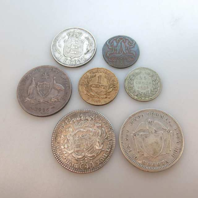Seven Various World Coins