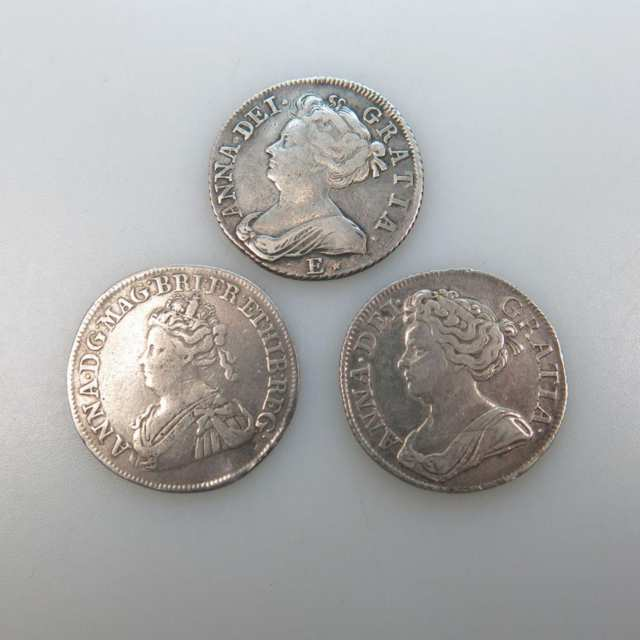 Three Anne Shillings