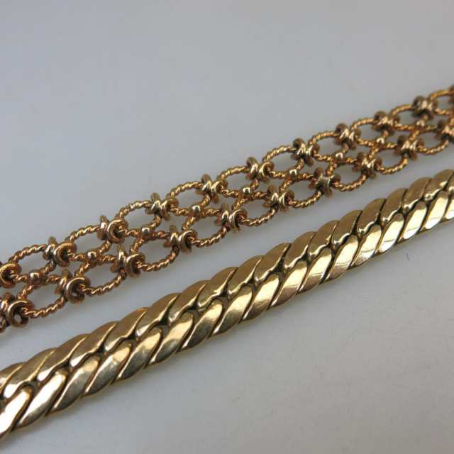2 x 14k Yellow Gold Bracelets