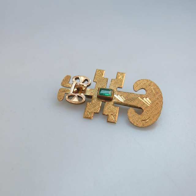 South American 18k Yellow Gold Brooch/Pendant