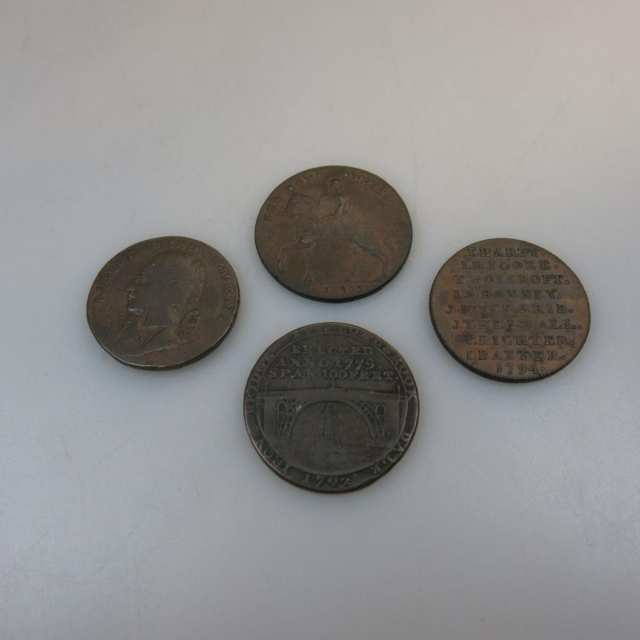 Four 18th Century Conder Tokens