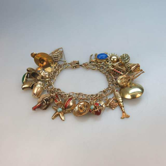 10k Yellow Gold Charm Bracelet