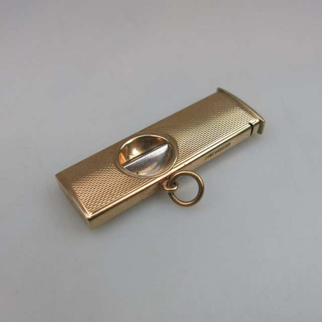English 9k Yellow Gold Cigar Cutter