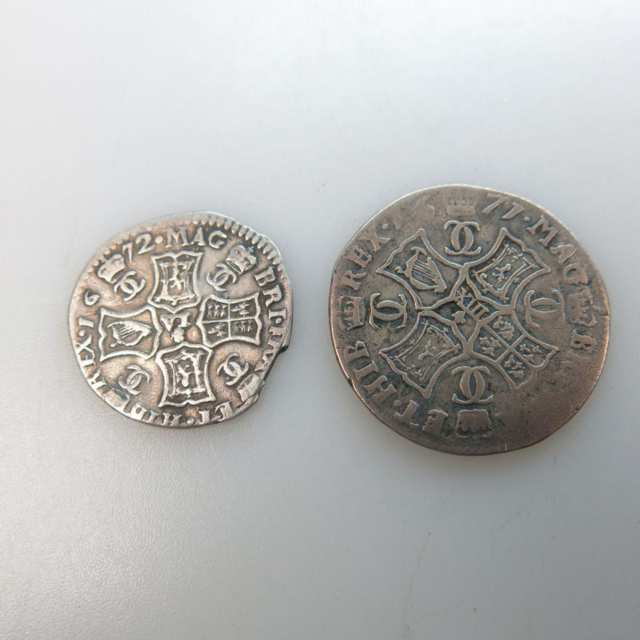 Two Charles II Scottish Coins