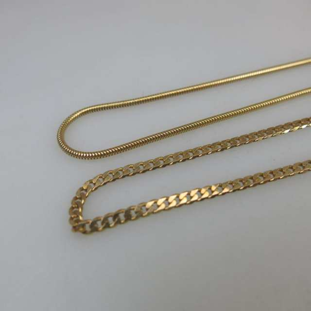 2 x 14k Yellow Gold Chains