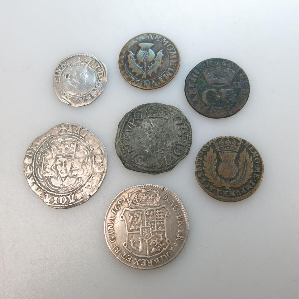 Seven Scottish Coins