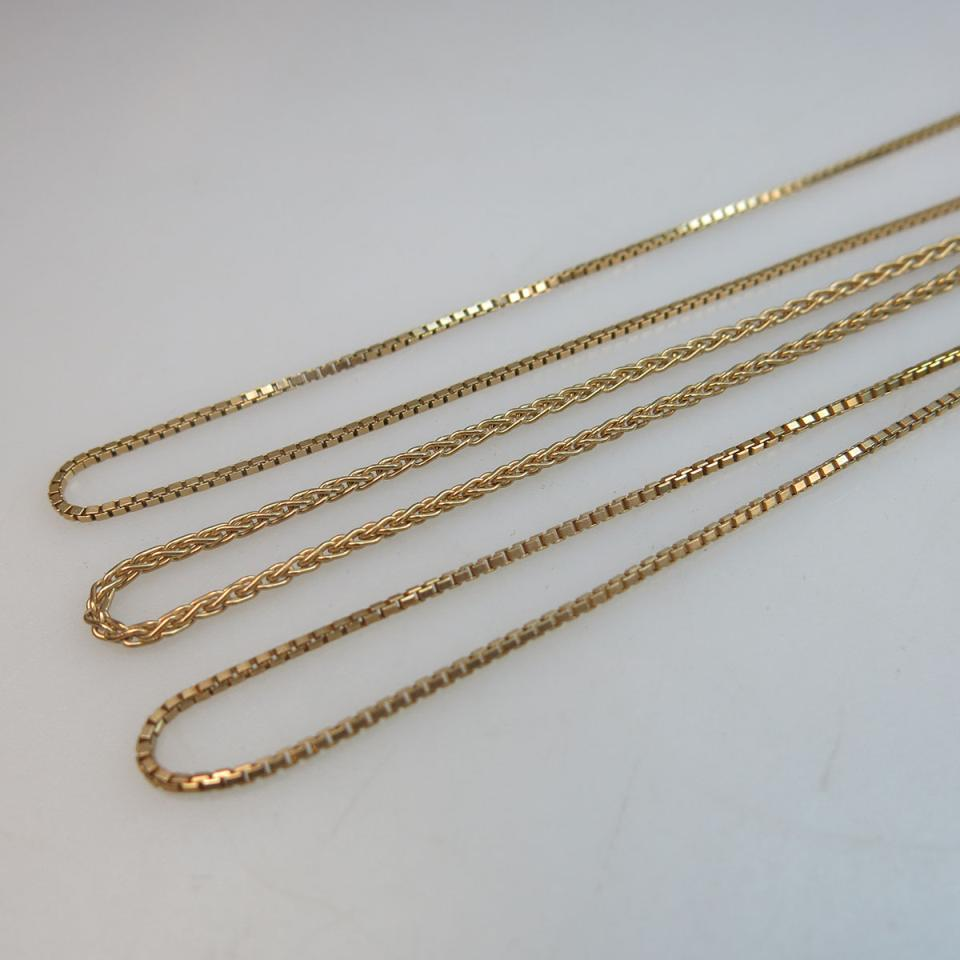 3 x 10k Yellow Gold Chains