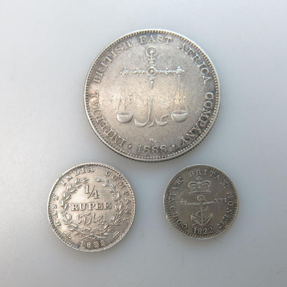 Three Colonial Coins