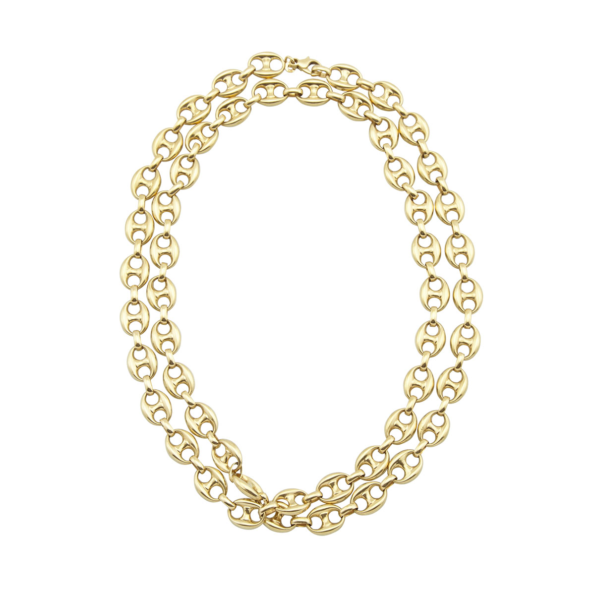 Italian 18k Yellow Gold Gucci-Style Link Chain