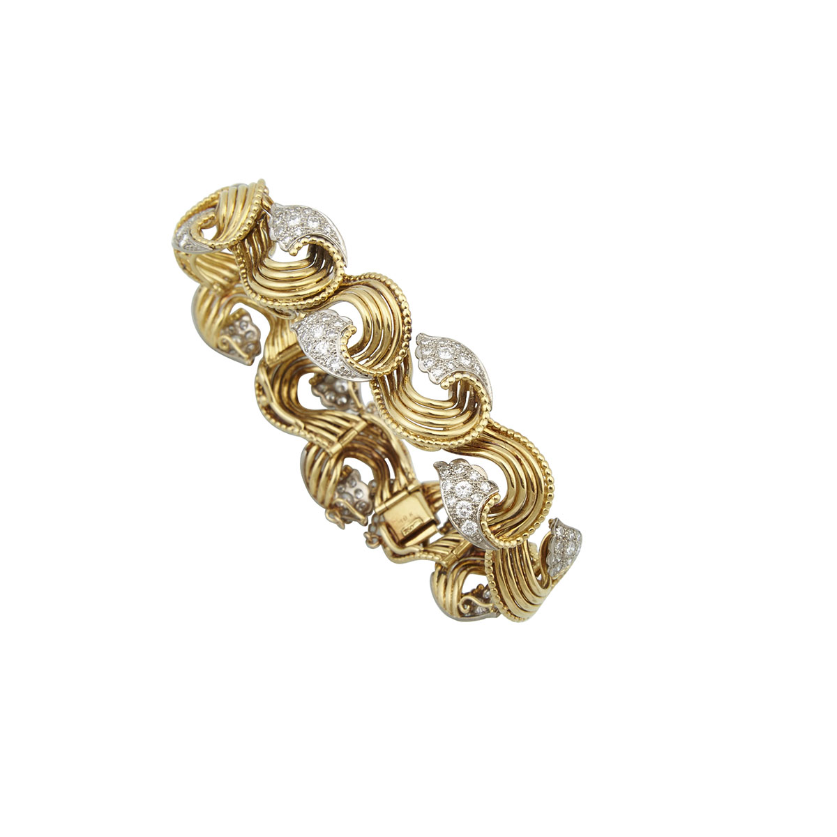 18K Yellow Gold And White Gold Bracelet
