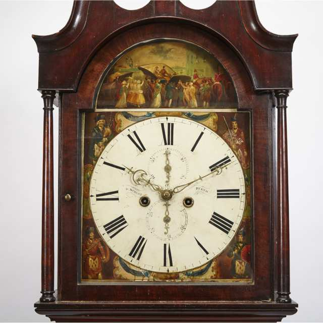 Scottish Mahogany Tall Case Clock, J. Jefferson, Perth, early 19th century