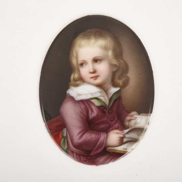 Dresden Oval Portrait Plaque, late 19th century