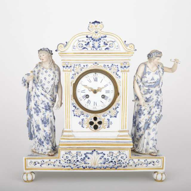 Meissen Mantel Clock, late 19th century