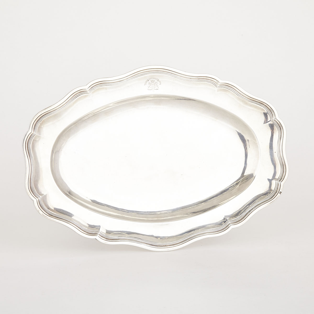 French Silver Oval Platter, Paris c.1768