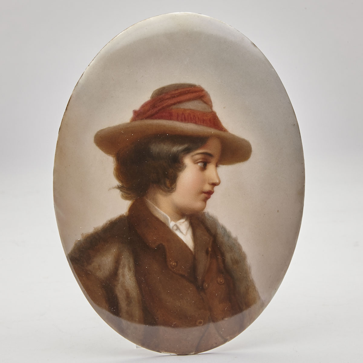 Berlin Oval Portrait Plaque of a Boy, late 19th century