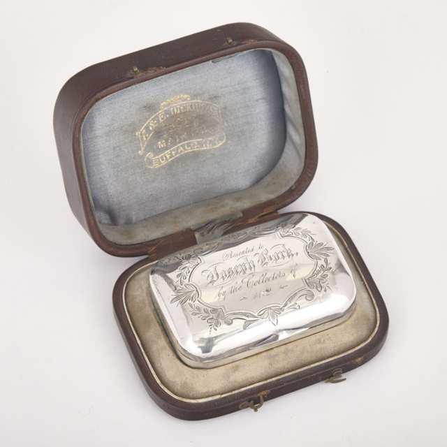 American Silver Soap Box, Whiting Mfg. Co., New York, N.Y., c.1872
