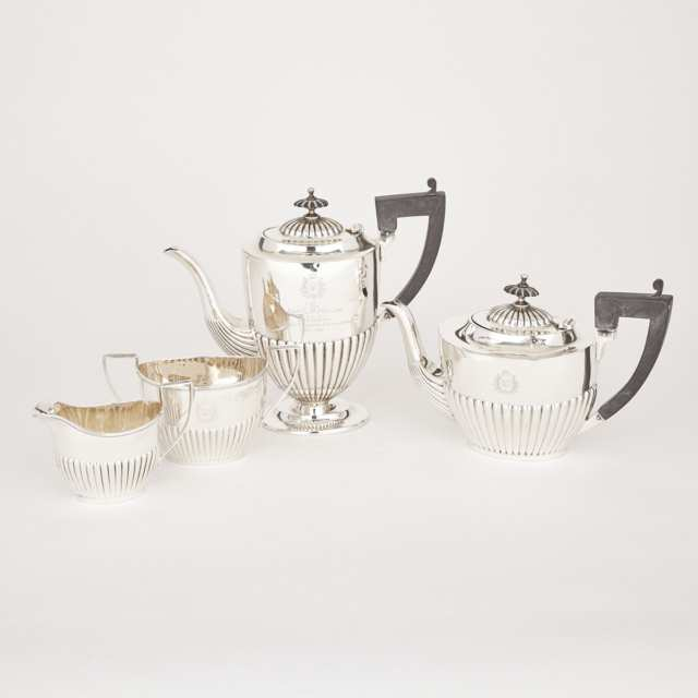 Assembled Canadian Silver Tea and Coffee Service, J.E. Ellis & Co. and Roden Bros., Toronto, Ont., early 20th century