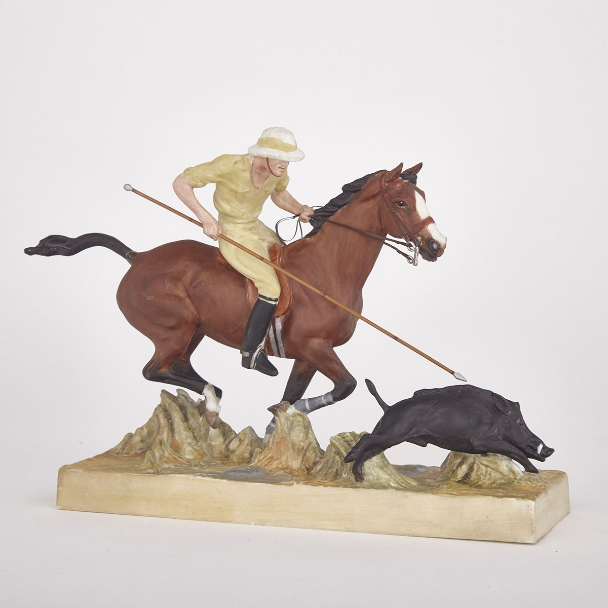 Royal Worcester Model, 'Hog Hunting', Doris Lindner, c.1965