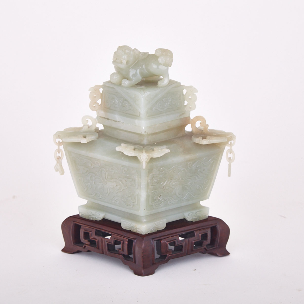 Hardstone Censer and Cover