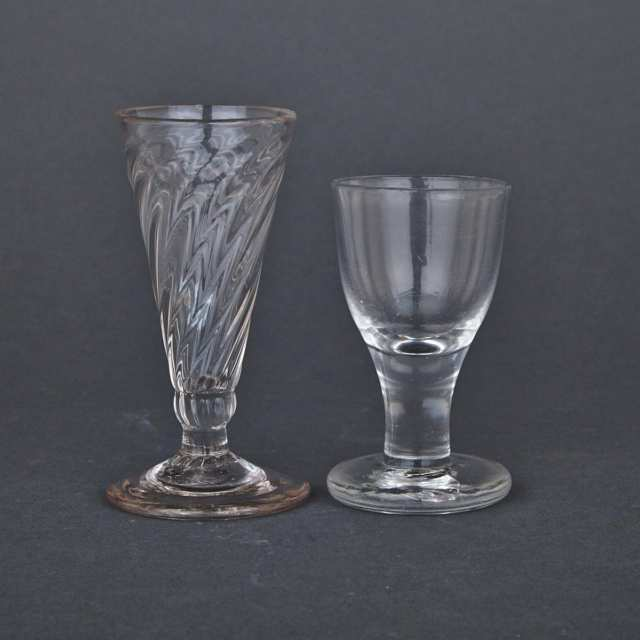 Two English Drinking Glasses, c.1800